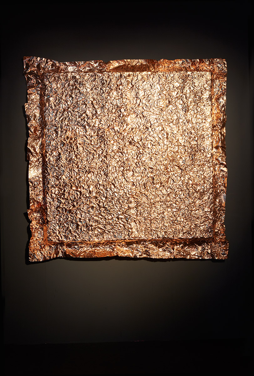Copper on wood frame